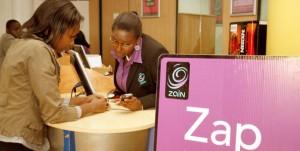 Cash transfer shop in Kenya