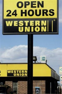 Western union safe cash transfer