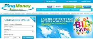 Ping Money, Transfers to Ghana